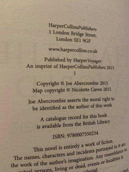 Signed Half The World - Joe Abercrombie - 1st/1st Hardback