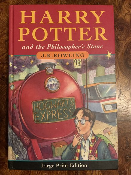Harry Potter and the Philosophers Stone Large Print Edition First Print