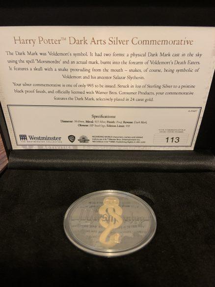 Harry Potter - Dark Arts Commemorative Silver Coin