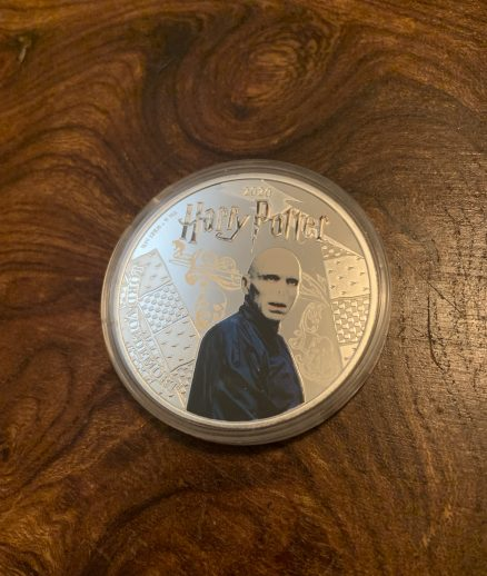 Lord Voldemort Silver Plated Coin - Half Dollar - Mint