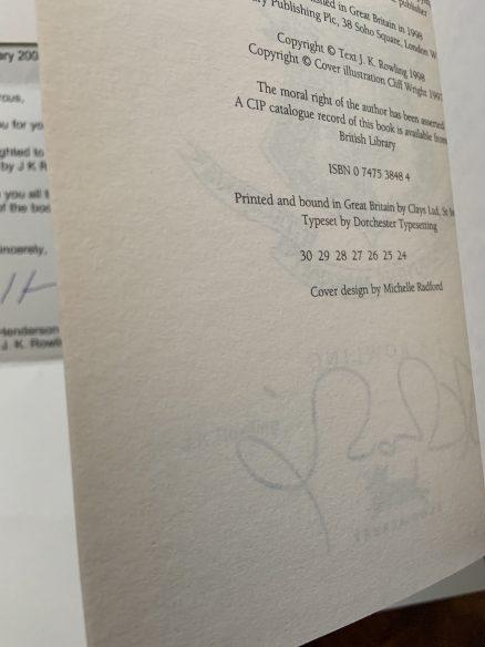 Chamber of Secrets Signed Bloomsbury UK