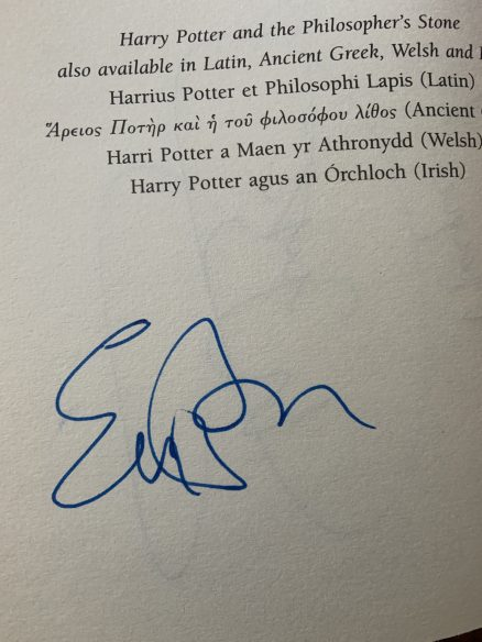 Harry Potter and the Half Blood Prince SIGNED Adult Bloomsbury UK 2005