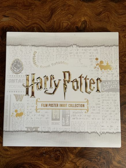 Harry Potter Film Poster Silver Ingot Collection