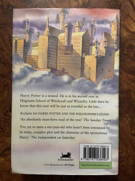 Harry Potter and the Chamber of Secrets Signed UK First Print Hardback